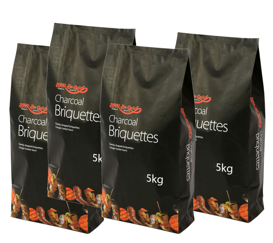 4 Bags Of Premium Charcoal Briquettes For Your Barbecue