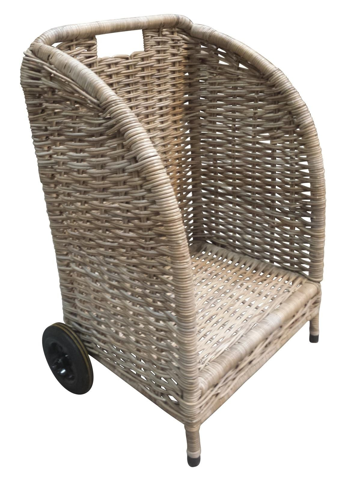 Open Front Basket With Wheels