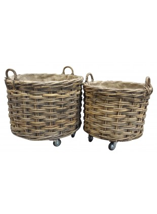 Circular Log Basket