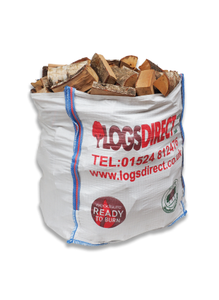 Kiln Dried Dumpy Bag Hardwood Logs - Birch