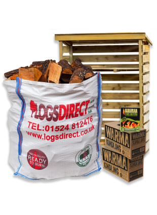 Kiln Dried Starter Kit and Log Store
