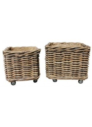 Square fireside Log Baskets