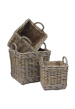 Glenweave Square Basket with Ear Handles & Removable Hessian Liner - 3 sizes