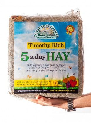Timothy Rich Hay 5-a-Day Rabbit & Guinea Pig Food