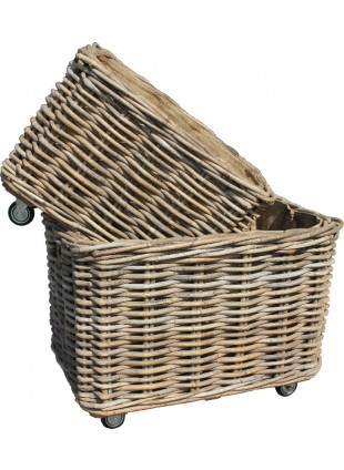 Log Basket with Wheels