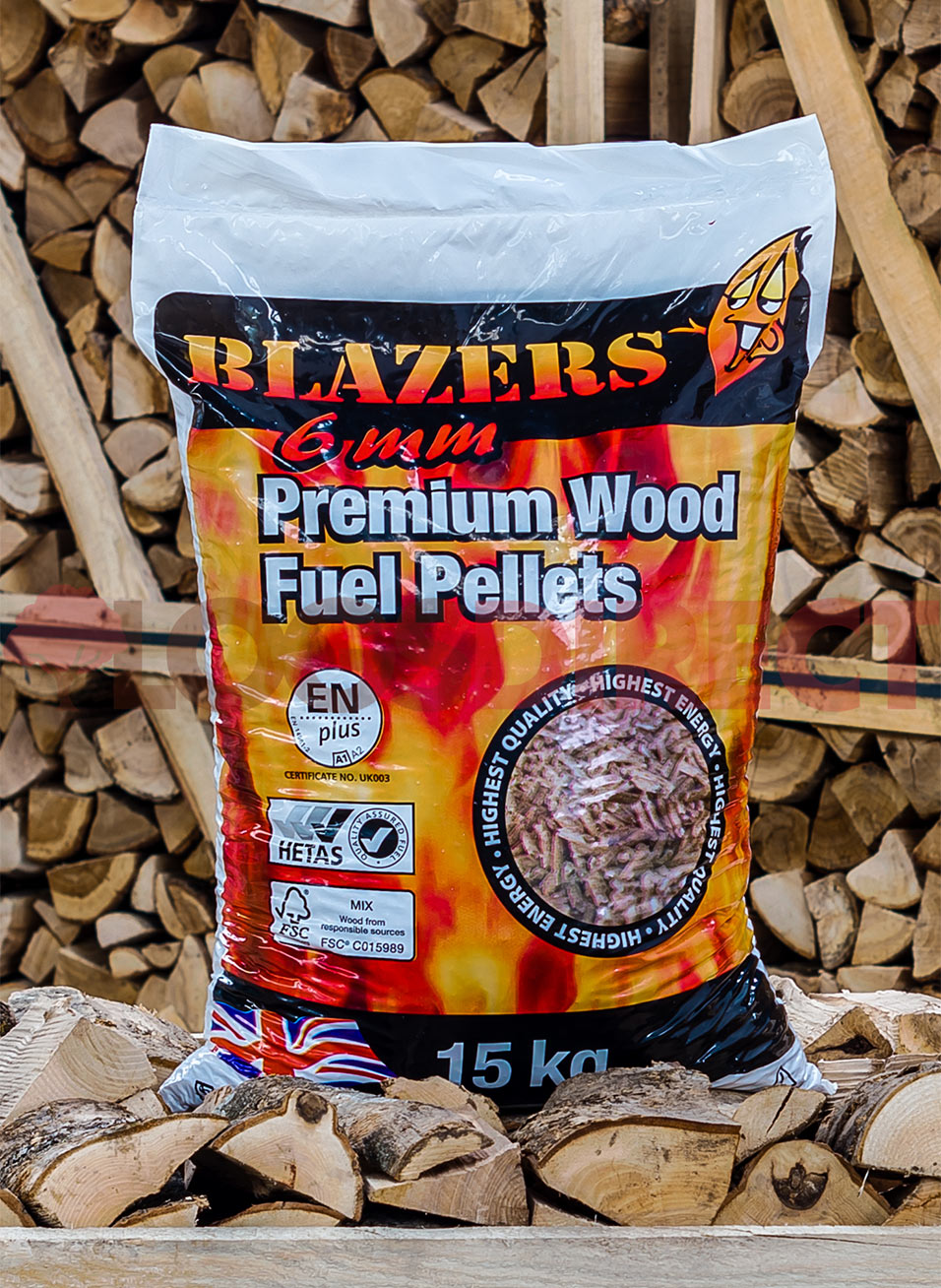 Wood Pellets Handy 15kg Bag Of Blazers Wood Pellets