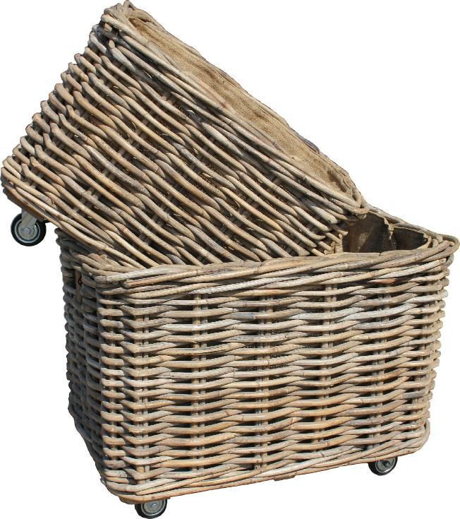 carry more at once with a log basket on wheels. Black Bedroom Furniture Sets. Home Design Ideas
