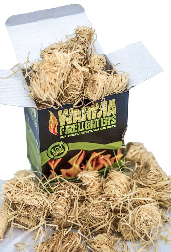 Wood Wool Eco Firelighters Completely Natural Ingredients
