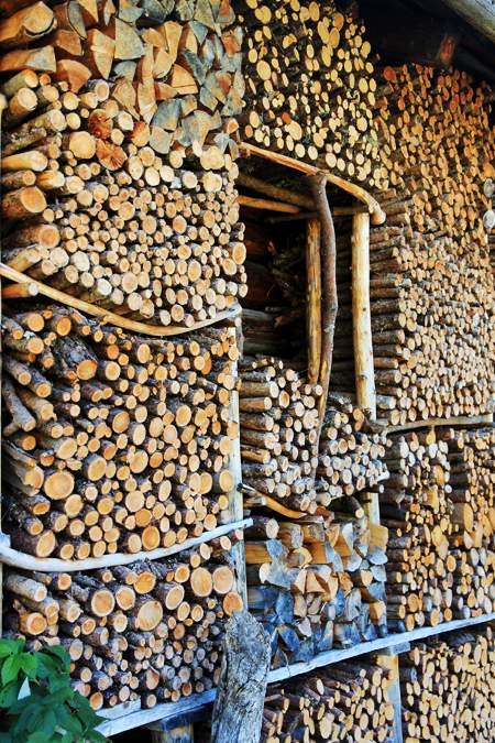 Wood storage in spring is important