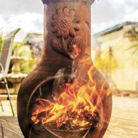If you are lucky enough to own a chiminea, get some fuel and start cooking!