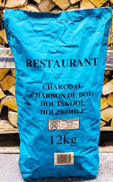 restaurant grade charcoal from Logs Direct