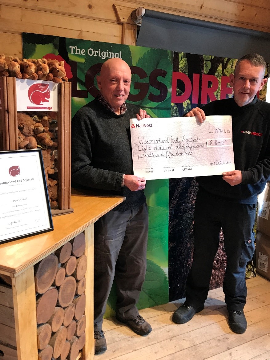 Shop with Logs Direct to Protect Red Squirrels
